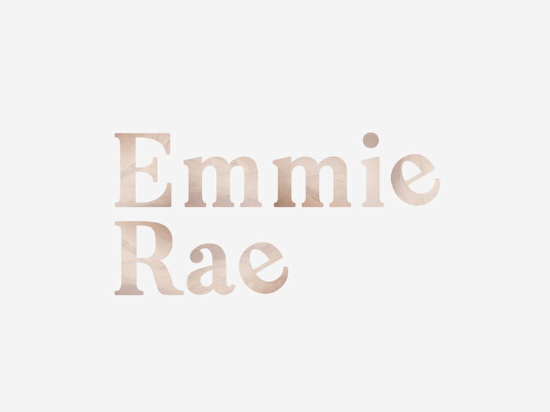 Logo for Emmie Rae graphic designer graphic design word mark lettering typography wellness spirituality clean yoga minimalist branding logo