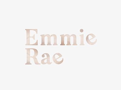 Logo for Emmie Rae graphic designer graphic design word mark lettering typography wellness spirituality clean yoga minimalist branding logo