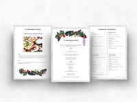 Menu & layout designs for My Newtown Kitchen