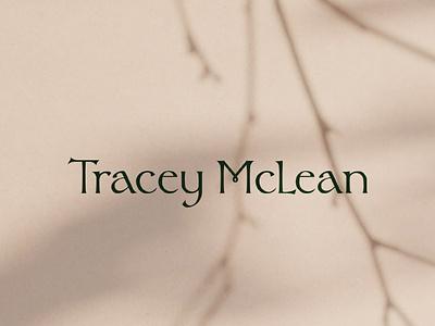Tracey McLean Naturopath & Herbalist Type Logo logo mark vector letter art ancient custom font type graphic  design spiritual druid herbalist naturopathy wellness celtic identity branding design logo calligraphy typography