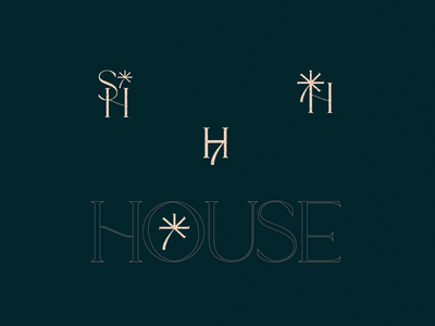 Seventh House – Unused Concepts II vector logo illustrator typography mark branding illustration design graphic design
