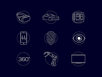 CES 2017 Keynote Tech Icons technology tech graphic design design icon illustration