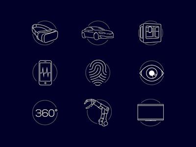 CES 2017 Keynote Tech Icons