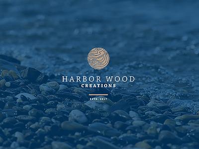 Harbor Wood Logo Concept mark illustration logo design logo branding graphic design design