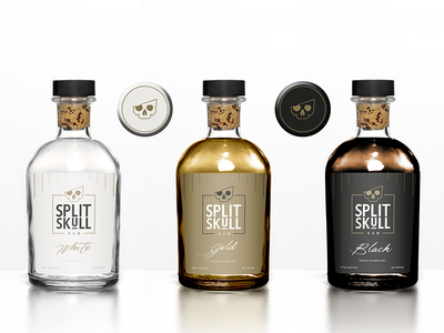 Split Skull Rum Concept brand label design label packaging mark illustration logo design logo branding graphic design design