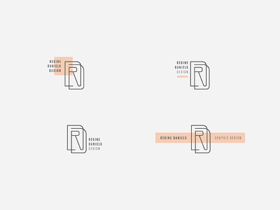 Personal Brand — Monogram Concept Cont'd logo design branding brand illustrator logo monogram design graphic design