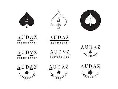 Audaz Photography — Logo/Watermark Concept concept personal monogram mark illustration logo design logo branding graphic design design