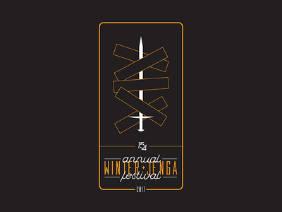 15Four Annual Winter Jenga Festival layout design layout type typography mark illustration graphic design design