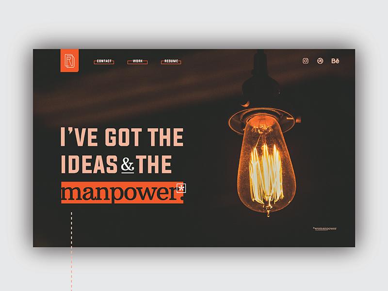 Personal Branding — Portfolio Re-Design web design ui illustrator illustration monogram mark branding logo design brand graphic designer graphic design design