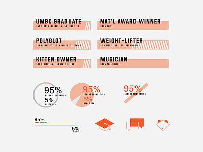 Personal Branding — Portfolio Re-Design Assets infographic illustration branding brand graphic designer designer graphic design design