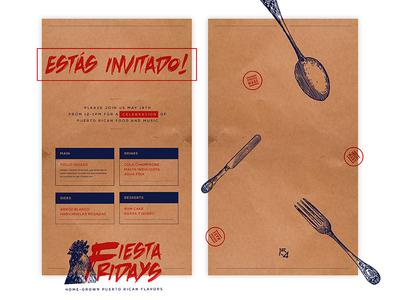 15Four Fiesta Fridays Digital Invitation/Menu illustrator illustration concept mark branding logo design brand logo graphic designer designer graphic design design