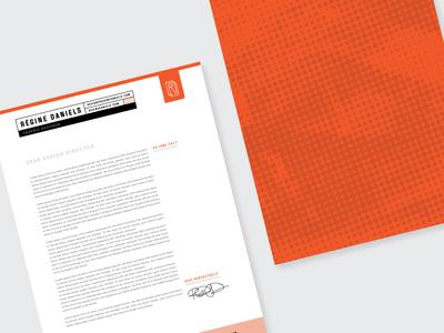 Personal Branding – Cover Letter print design cover letter graphic design typography print layout design