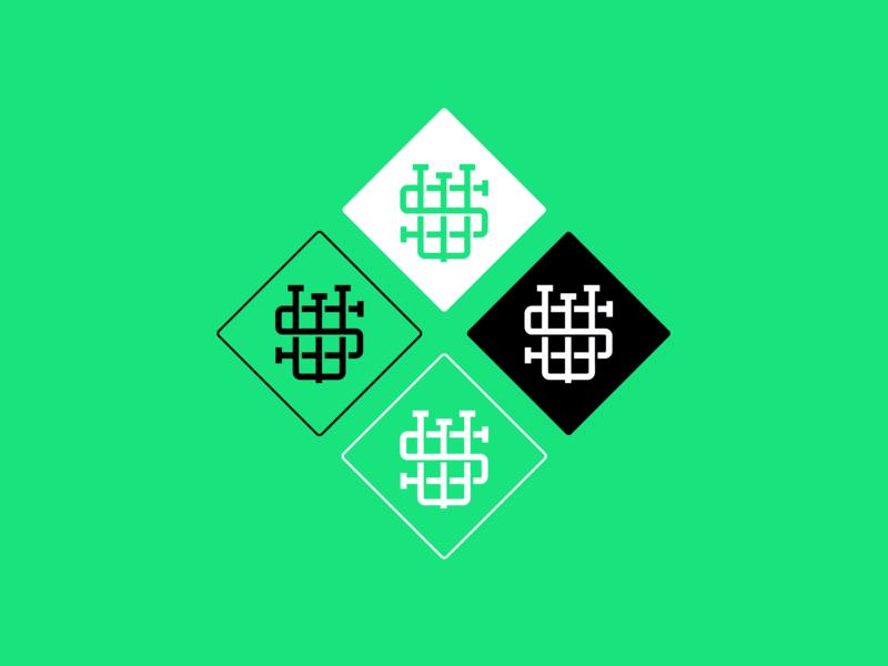 SW Podcast – Monogram monogram vector logo illustrator logo design branding mark illustration graphic design design
