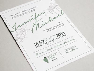 The Hopkins Hitchin' – Invitation wedding stationery layout illustration typography graphic design design