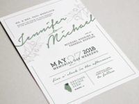 The Hopkins Hitchin' – Invitation wedding stationery layout illustration typography graphic design design
