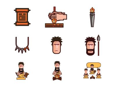 Primal Branding Icons illustration icons graphic design