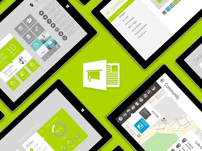 Microsoft Unify - University App Concept app microsoft surface green branding app design ui ux ui design user interface design windows 8 microsoft university
