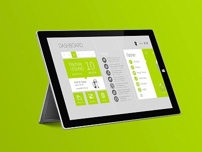 Microsoft Unify on Surface green concept university windows ui design app design app microsoft unify