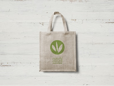 SunShi - Bag logo takeaway packaging bag stationery branding food fast food green