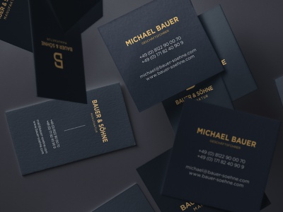 Bauer & Söhne | Business Cards paper print typography stationery branding corporate design business cards