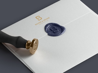 Bauer & Söhne | Waxseal luxury branding corporate design seal branding wax seal stationery waxseal