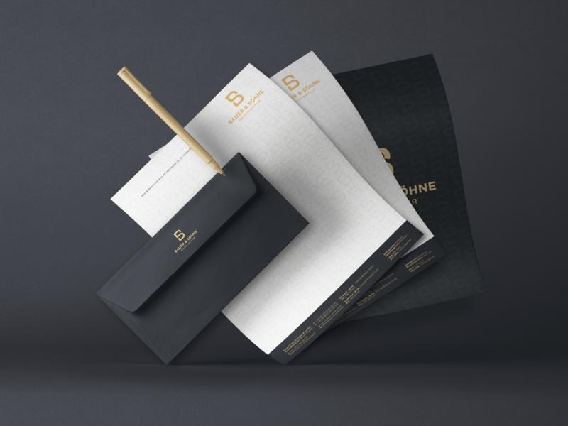 Bauer & Söhne | Stationery luxury branding agency branding letterhead envelope corporate design print paper stationery