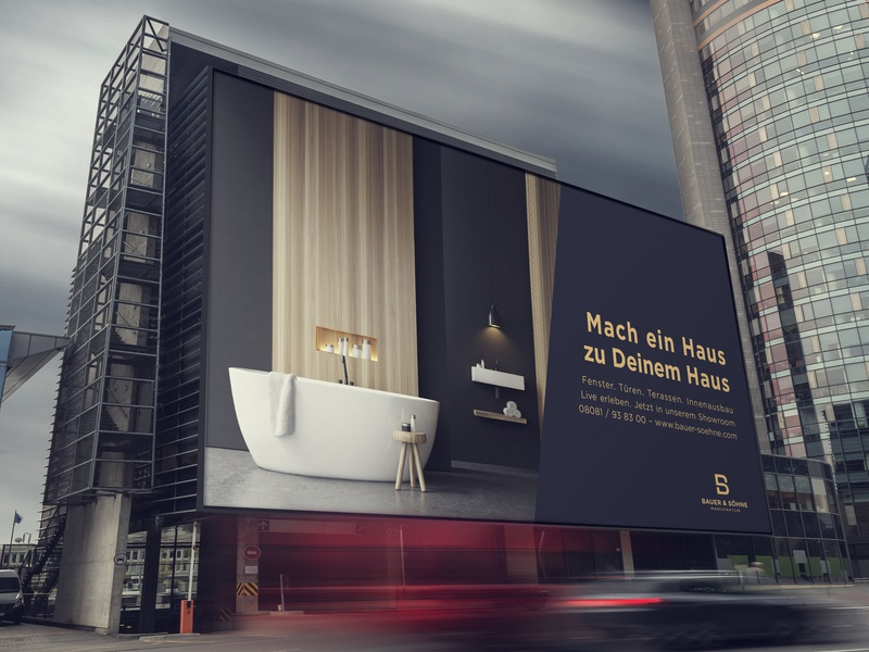 Bauer & Söhne | Billboard Ad ad outdoor advertising print ad billboard ad billboard advertisement