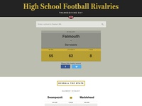 High School football rivalries