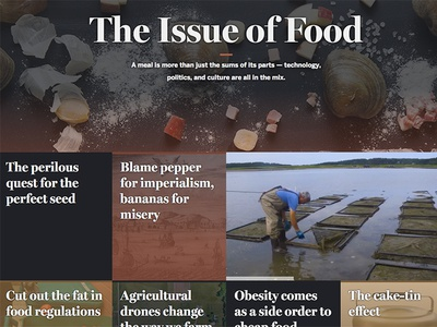 The Issue of Food editorial interactive