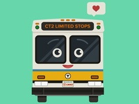 Happy little mbta bus