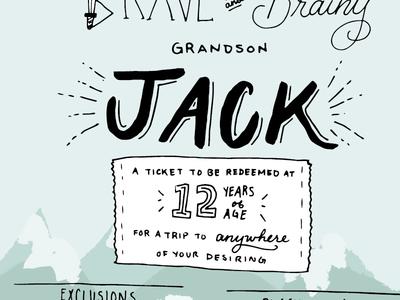 Travel Gift travel mountains lettering illustration