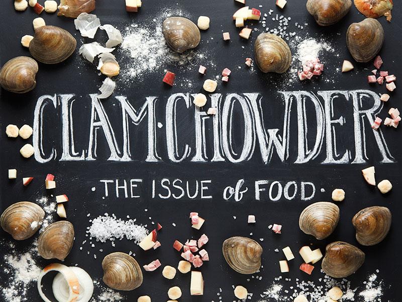Clam Chowder lettering food chowder chalkboard lettering