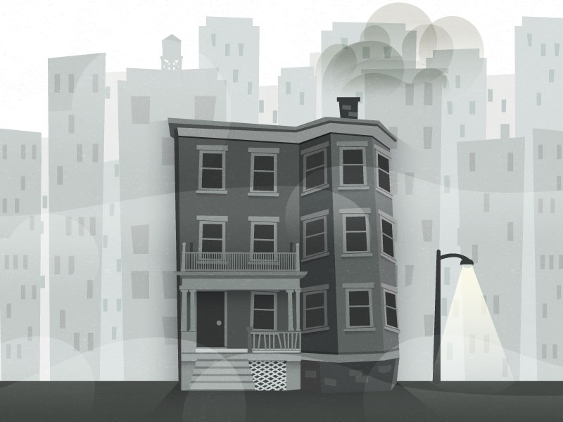 Triple Decker apartment illustration