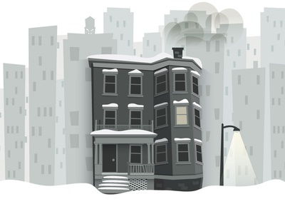 Triple Decker apartment illustration