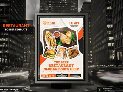 Restaurant Poster Template restaurant print template menu design menu fries fresh food flyer fast-food fast food poster fast food flyer fast food drink designer clean business burger bundle bar ad