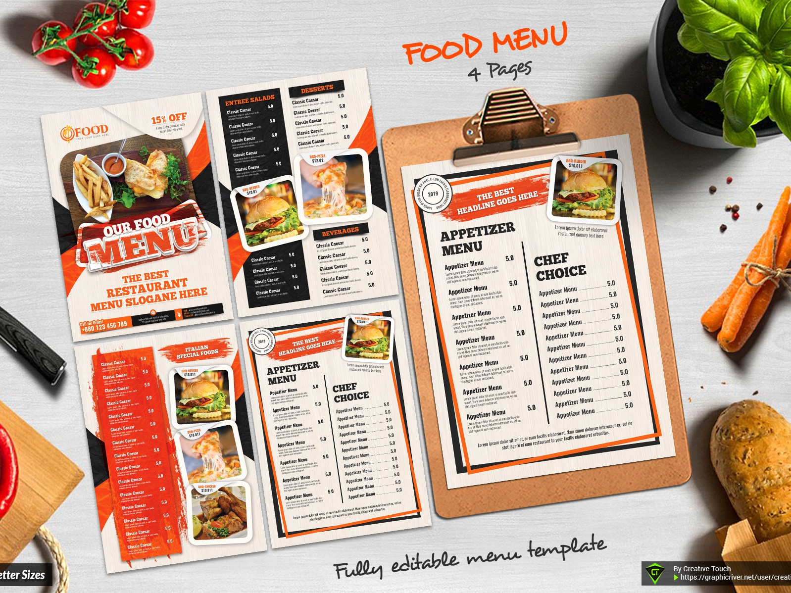 Food Menu Template By Creative Touch Dribbble Dribbble