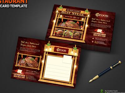 Restaurant Postcard Templates