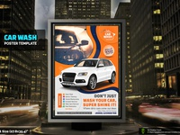 Car Wash Poster Template