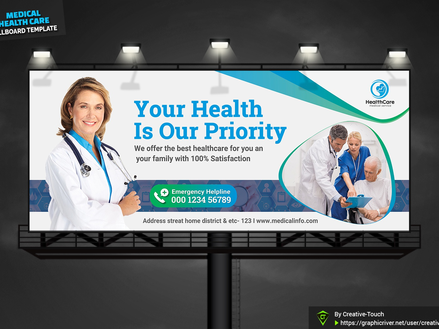 Medical Health Care Billboard by Creative Touch on Dribbble