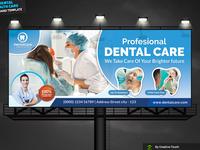 Medical Dental Care Billboard Template