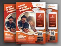 Restaurant Mobile App Flyer Templates