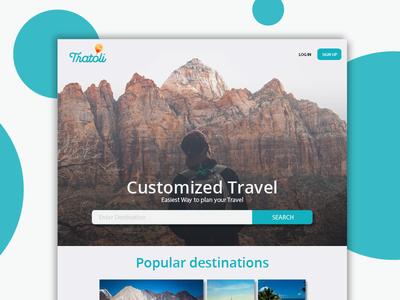 Tratoli Landing Page Concept