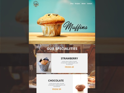 Bakery Landing Page Concept