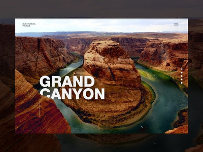 National Park hero image landing page web ui website web ui ux united states of america usa grand canyon national park