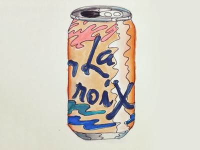 Pamplemousse La Croix push pin psychedelic drink la croix watercolor