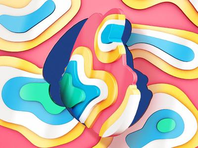 Freddie Freakout mailchimp kimp 3d psychedelic