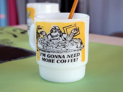 Thrift Store Mugs mug duotone screenprinting