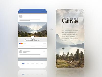 Facebook Canvas concept performance marketing canvas facebook ad