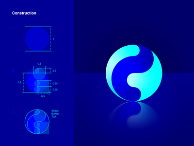 Blue Marble marble blue marble 2019 vector illustration simple blue icon design vector concept icon