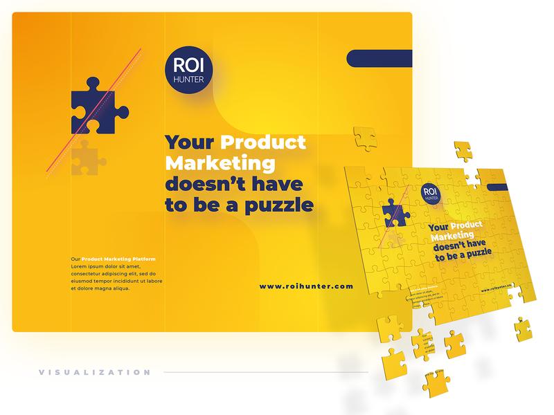 Branded Puzzle Concept branded content marketing marketing collateral puzzle branded roi hunter print design merch design merchandise merch